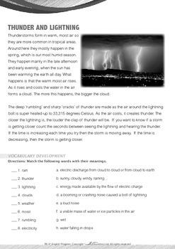 World Issues - Thunder and Lightning - Grade 6