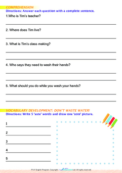 World Issues - Turn off the Water (II) - Grade 1