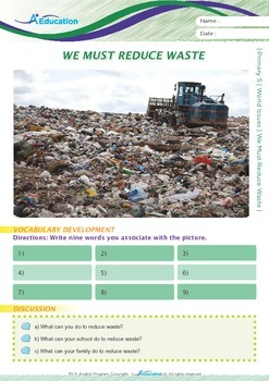 World Issues - We Must Reduce Waste - Grade 5