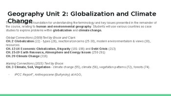 World Issues in Geography: Globalization and Climate Change