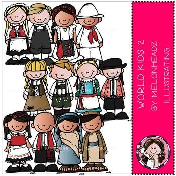 World Kids clip art 2 - COMBO PACK- by Melonheadz