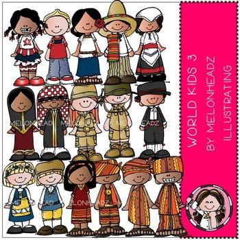 World Kids 3 clip art - by Melonheadz