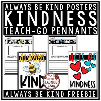 "World Kindness Bulletin Board ""Always Bee Kind"" Poster"