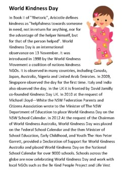 World Kindness Day Handout