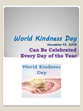World Kindness Day Nov. 13 Can Be Celebrated Every Day of