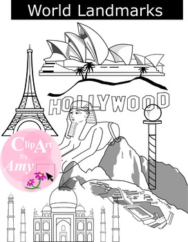 World Landmark Clip Art