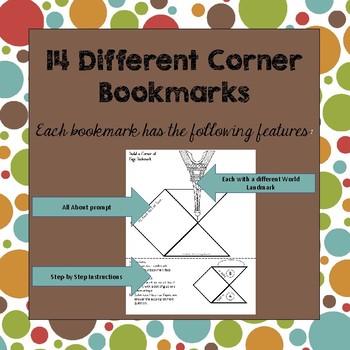 World Landmark Corner Bookmarks