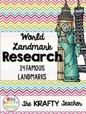 World Landmark Research  3rd, 4th, 5th Writing, Social Studies