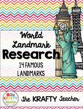 Social Studies Research and Writing Project, World Landmarks, 3rd, 4th, 5th, 6th