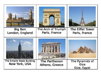 Safari Around the World toob Montessori matchup cards