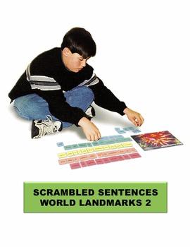World Landmarks 2 Scrambled Sentences Manipulatives