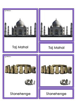 World Landmarks 3 Part Cards