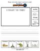 World Landmarks Activity Pack / Worksheet Set + flashcards