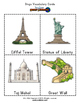 World Landmarks Bingo Matching Activity w/ fashcards