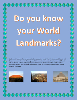 World Landmarks - Do you know the landmarks of the world?