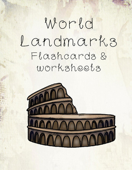 World Landmarks Flashcards and Worksheets