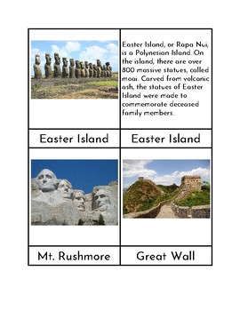 World Landmarks (NEW) - Three/Four Part Cards