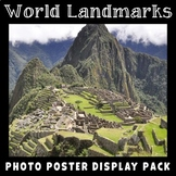 Famous World Landmarks Posters | Social Studies Vocabulary | Geography