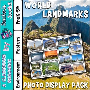 World Landmarks Photo Poster Display Pack {UK Teaching Resource}