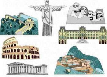 World Landmarks (Set 03) Clipart by Poppydreamz