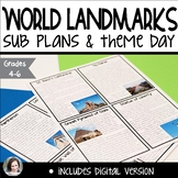 World Landmarks Sub Plans or Theme Day