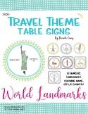World Landmarks Table / Group Signs