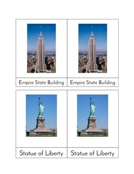 World Landmarks - Three/Four Part Cards