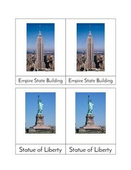 World Landmarks - Three/Four Part Cards