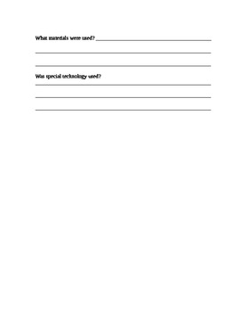 World Landmarks Worksheet
