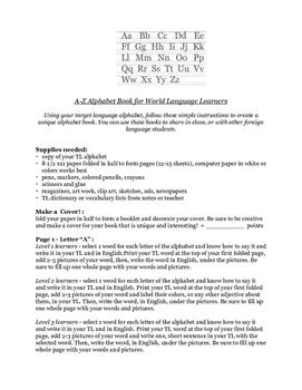 World Language Alpha Book Project