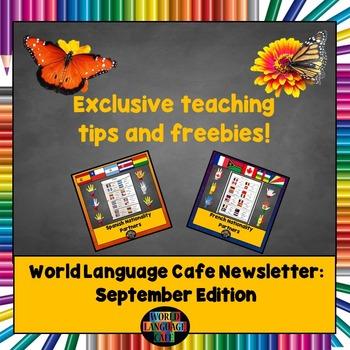 World Language Cafe Newsletter (September '16 Edition)