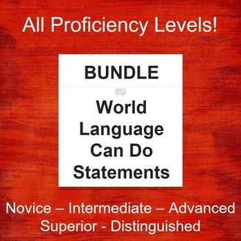 World Language Can-Do Statements (340+ Slides) 2017 Version