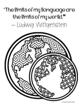 World Language Growth Mindset Coloring Pages or Posters