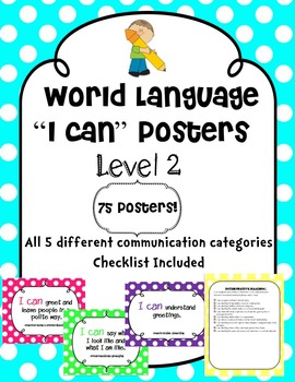 """World Language """"I Can"""" Posters Level 2"""