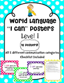 """World Language """"I Can"""" Posters Level 1"""