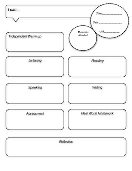 World Language Lesson Plan Template By Creative Language Class TpT - Language lesson plan template