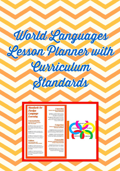 Digital World Language Lesson Planner: Embedded drop-down