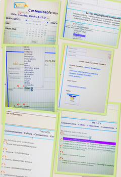 Digital World Language Lesson Planner: Embedded drop-down menus for EVERYTHING