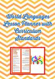 Digital World Language Lesson Planner: Embedded drop-down