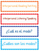 World Language Modes Board & Bulletin Labels