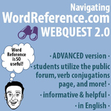 World Language - Navigating WordReference.com Webquest - ADVANCED version