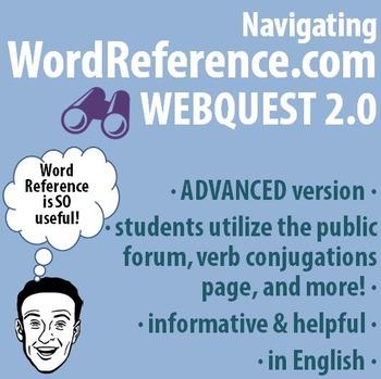 World Language - Navigating WordReference.com Webquest - ADVANCED version