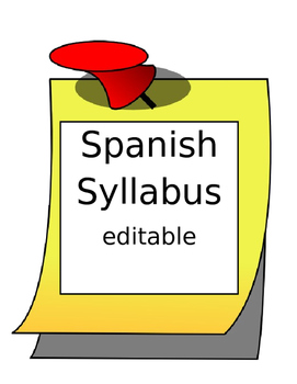 Spanish I World Language Syllabus Editable