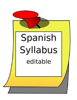 Spanish I World Language Syllabus Editable