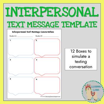 World Language Spanish Intepersonal Texting Template