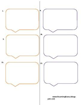 world language spanish intepersonal texting template by llearning llama