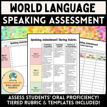 World Language Speaking Assessment (French, Spanish, Italian, etc.!)