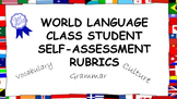 World Language Student Self-Assessment Rubrics: Vocabulary, Culture, Grammar