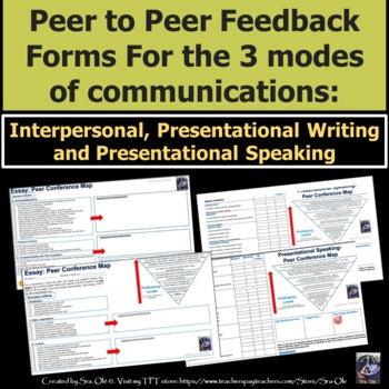 peer to peer feedback form modes of communication for spanish class