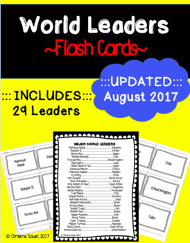 World Leaders Flash Cards